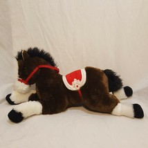 "Horse Plush Stuffed Animal 18"" Long Brown White Red White Saddle Toys R ... - $25.89"