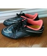 Nike Pink & Black Hypervenom Cleats Size 5Y - 599062-016 - $14.99
