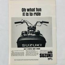 "Suzuki Motorcycle Vintage Christmas 1966 Print Ad Jingle Balls 8"" x 10""  - $9.47"