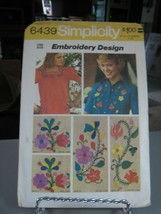 Simplicity 6439 Floral Embroidery Design Transfer Pattern - $6.92