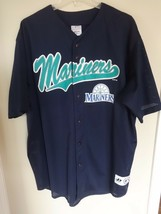 Vintage 2001 MLB Seattle Mariners Button Front Baseball Jersey Men 2XL Dynasty - $42.61