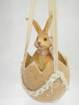 Dept 56 Easter Ornament Rabbit in Flocked Egg S... - $17.81