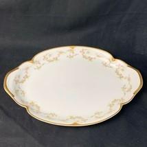 "Vintage Theodore Haviland Limoges Rosa E Lilla Floreale 14"" Vassoio - $36.63"