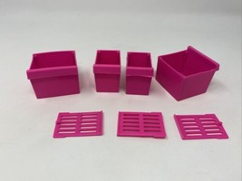 Vintage 1979 Mattel Barbie Dreamhouse Refrigerator Accessories Drawers &... - $16.82