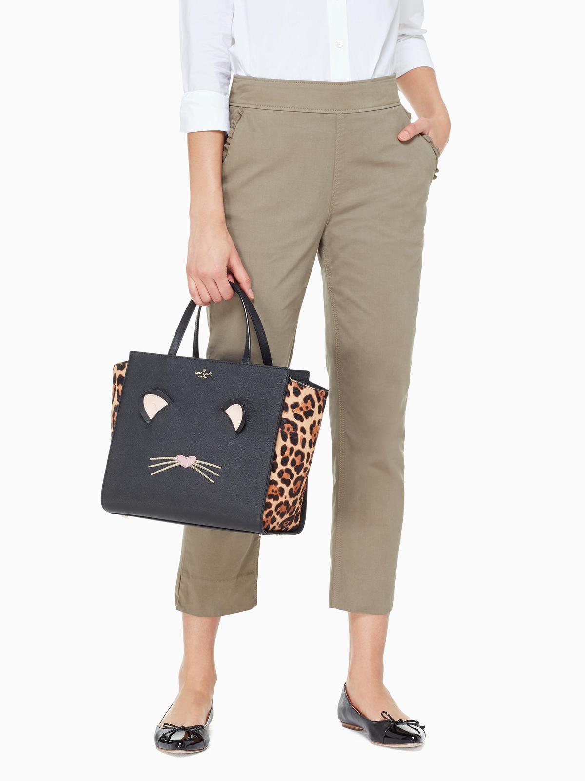 f2f19f89b872 6f1d1ffbd3c711681d5bffb5bdf7bf75. 6f1d1ffbd3c711681d5bffb5bdf7bf75.  Previous. NWT Kate Spade Leopard Hayden Run Wild Cat Large Satchel Bag