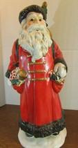 """VINTAGE 12"""" CERAMIC  SANTA TOY BAGS TREE/ CHRISTMAS RED  MERCURES  - $34.65"""