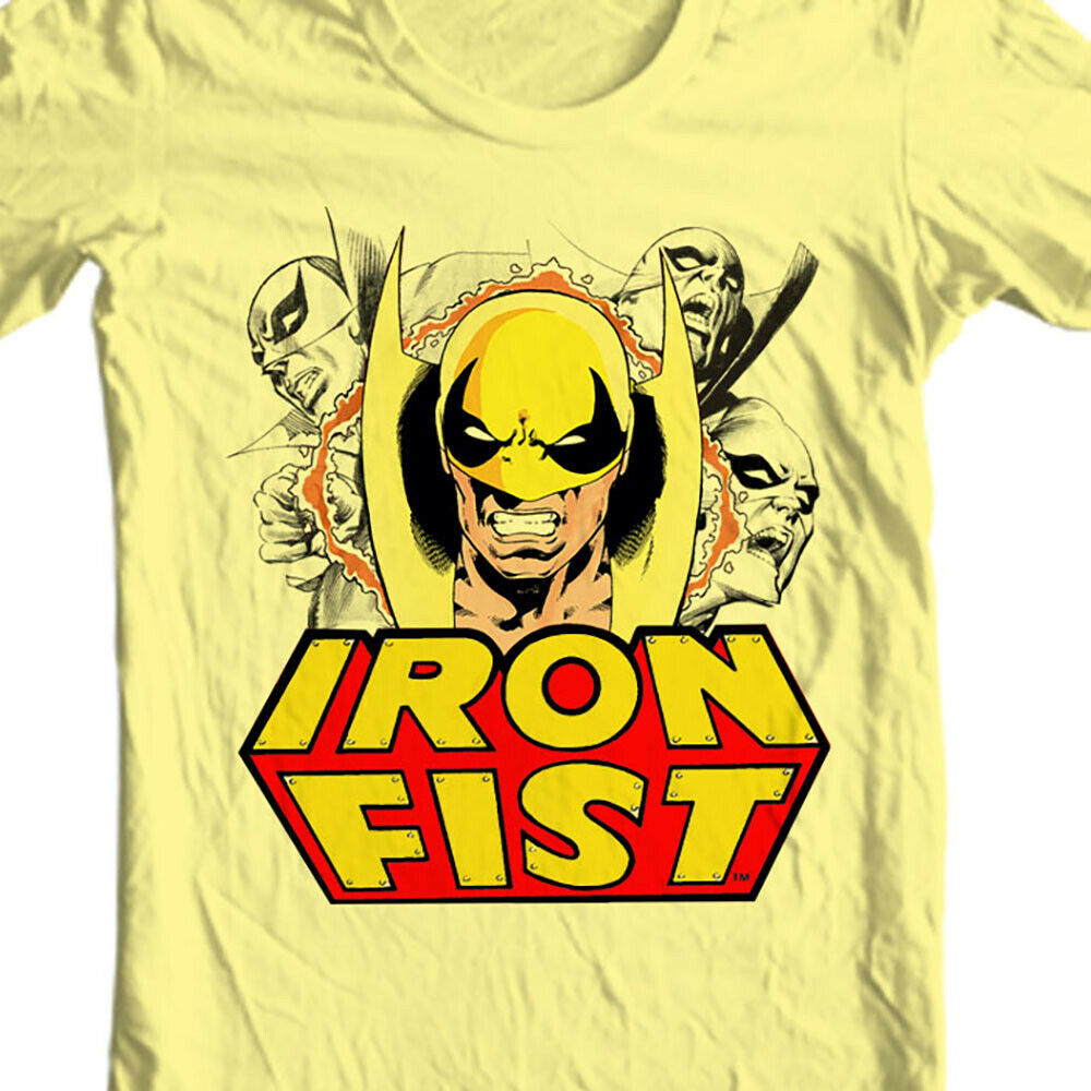Iron Fist T-shirt Danny Rand retro marvel comics Heroes for Hire Luke Cage