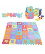 Bamny Puzzle Play Mat - Non-Toxic EVA Kids Multicolor Alphabets & Number... - $34.82