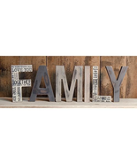 Wood Free standing Letters FAMILY Fireplace mantel dresser dress  - $42.99