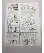 Hirsh The Cutters Edge II All Purpose Cutting Guide Owners Manual Assemb... - $12.19