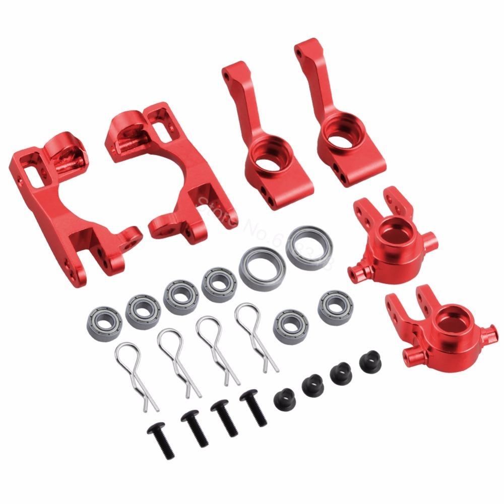 For 1/10 Traxxas Slash 4x4 Aluminum Steering Knuckles Blo Parts # 6837X C-Hubs 6 - $33.57