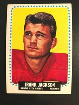 1964 Topps Football Kansas City Chiefs # 102 Frank Jackson Rookie Card - $4.94