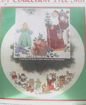 Dimensions Christmas Tree Skirt Counted Cross Stitch Kit Toy Collection 1989 - $39.55