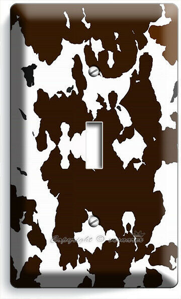COW HIDE SKIN PRINT 1 GANG LIGHT SWITCH WALL PLATE COUNTRY STYLE ROOM HOME DECOR