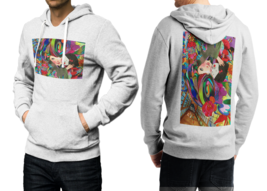 Mushroom DMT  White Cotton Hoodie For Men - $39.99
