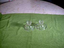 Vintage Avon 24% Lead Crystal Etched Hummingbird Candle Holders 2 pcs. - $10.00
