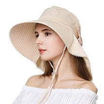 Big Head Womens Summer Sun SPF Protection Packable Cotton Shade Wide Bri... - $18.27