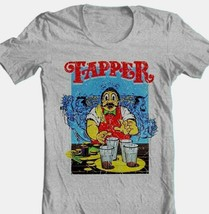 Tapper T-shirt retro 80's arcade game video game cotton blend graphic grey tee image 1