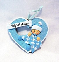 Christmas Ornament Babys First Christmas Blue For Boy Nursery Decoration... - $9.74