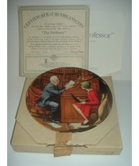 Norman Rockwell The Professor Plate Heritage Collection 1985 w/ Box & COA - $15.99