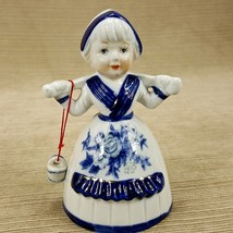 Vintage Porcelain Bell Holland Dutch Girl Blue ... - $9.64