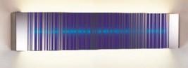"""Wall Light fixture 24"""" glass Blue Barcode Inspired Design Art deco uniqu... - $94.05"""