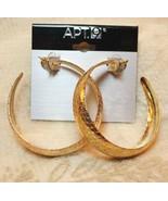 Apt 9 Textured Hoop Gold Tone Earrings - $12.99