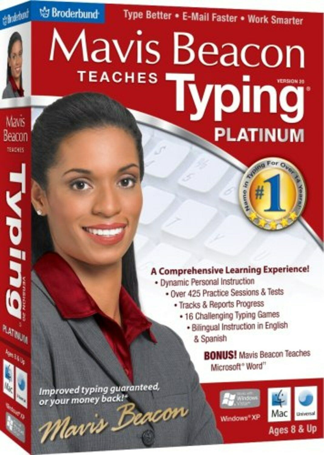 Mavis Beacon Teaches Typing Platinum 20 - Old Version