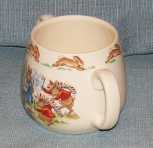 Royal Doulton Bunnykins -2 Handled Child Cup - Cowboys and Indians -VGUC image 3