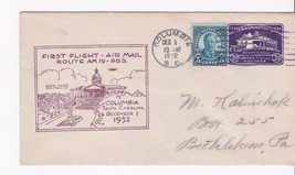 FIRST FLIGHT COLUMBIA, SC DECEMBER 1, 1932 ROUTE AM 19 P.O.D. - $2.98