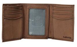 Levi's Men's Premium Leather Credit Card Id Wallet Trifold Brown 31LP1126 image 3