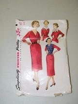 Vintage Simplicity Dress Pattern Slim Size 15 Pattern 13254 - $12.17