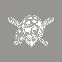 Pittsburgh Pirates #6 MLB Team Logo 1 Color Vinyl Decal Sticker Car Window Wall - $3.95+