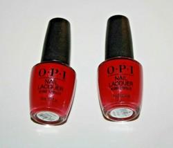 O.P.I Nail  Lacquer NailPolish NL L72 OPI Red Lot Of 2 New - $10.44