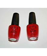 O.P.I Nail  Lacquer NailPolish NL L72 OPI Red Lot Of 2 New - $9.40