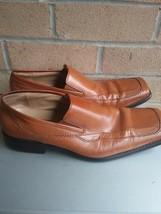 ZENGARA Men's brown Leather Square Toe Dress Shoes - Size 9 1/2 m  - $22.14