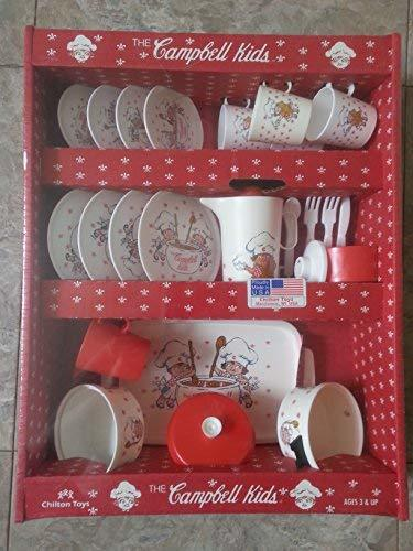 Vintage Chilton Toys The Campbell Kids Dinner Play Set for Children Made in USA