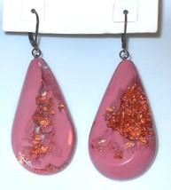 Sobral Orlando Opaque Pink & Copper Metallique Desenvolvimento Earrings ... - $40.59
