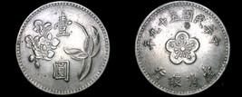 1970 YR59 Taiwan 1 Yuan World Coin - China Formosa - $5.99