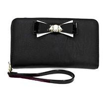 Betsey Johnson Dog Black Z/A Zip Around Wallet/Wristlet Gold Tone Puppy ... - $51.00