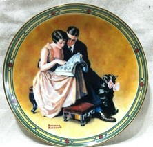 """NORMAN ROCKWELL """"A Couple's Commitment"""" Knowles Collector's Plate 1985 - $4.45"""
