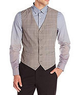 Perry Ellis Men's Herringbone Stripe Alloy Gray Suit Vest Size Large - €36,46 EUR