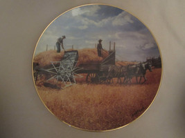 HARVESTING AT LAST collector plate EMMETT KAYE Farming the Heartland HORSES - $28.06