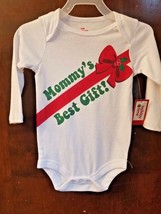 NEW NWT Boys or Girls Christmas Bodysuit Size 3-6 Months Mommy's Best Gift - $6.99