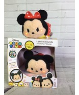 Disney Tsum Tsum Mickey Mouse And Minnie Mouse Lights and Sounds Plush T... - $22.27