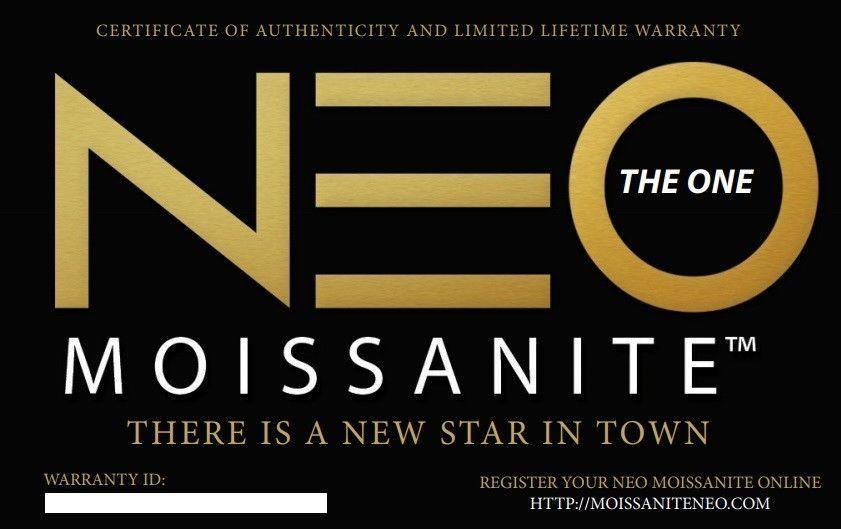 4.00 Carat NEO Moissanite Stud Earrings in 14K Gold (with NEO warranty card)