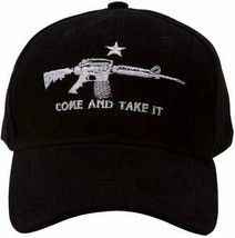 AR-15 Machine Gun NRA Rights M4 Black Come and Take it Baseball Style Ca... - $21.77