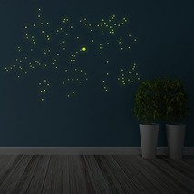 """( 59"""" x 39"""") Glowing Vinyl Ceiling Decal Star Map / Glow in the Dark Con... - $22.85"""