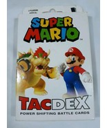 ** Super Mario TacDex Power Shifting Battle Cards Discontinued  New - $44.06