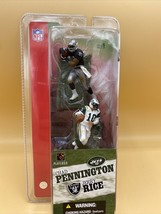 2004 Mc Farlane Sports Picks Nfl Chad Pennington & Jerry Rice Jets Vs Raiders - $14.80